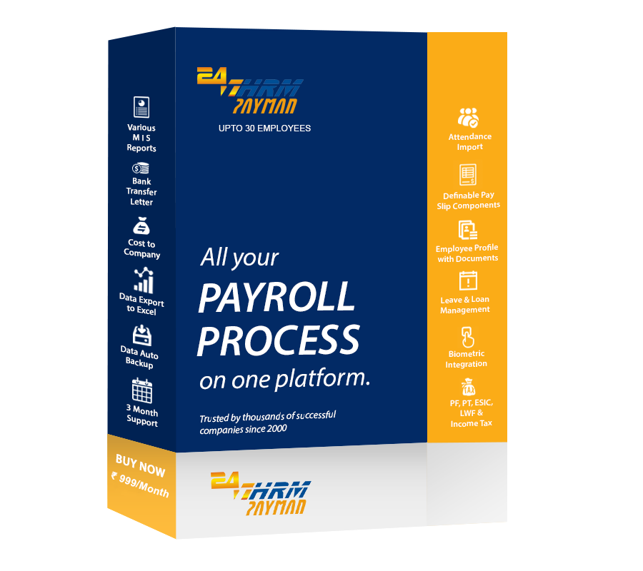 247HRM PAYMAN Desktop Payroll Software India